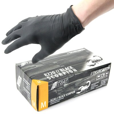 SCORPION - Latex - Examination gloves - Black