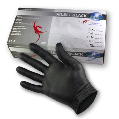 SELECT BLACK - Latex - Examination gloves - Black S