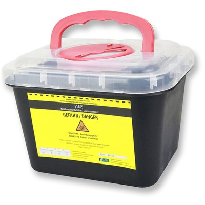 Container for used Needles and Cannula Nitras Sharps Container 5 Liter