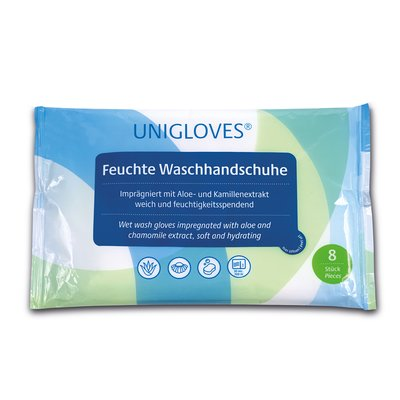 UNIGLOVES - Moist washing gloves