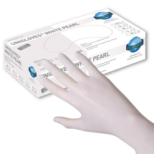 UNIGLOVES - Nitril - Examination gloves - White Pearl L